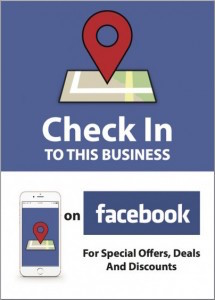 Facebook Check In Sticker