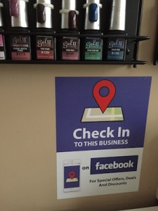 Facebook Check-in Sticker