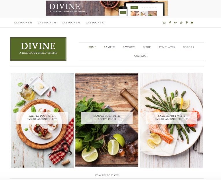 choosing a blog layout